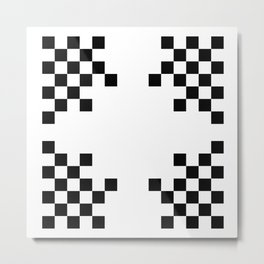 Pixels on White Metal Print