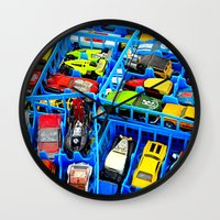 cars Wall Clocks featuring CARS. by TMCdesigns