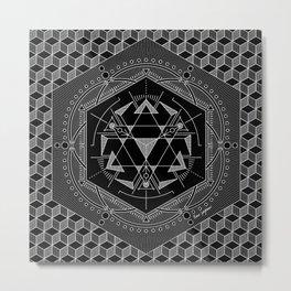 GEO II Mandala Metal Print