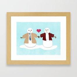 More Profound Snowmen Framed Art Print