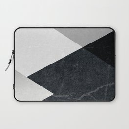 Geometrics - marble & silver Laptop Sleeve