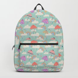 Happy Spring Showers - Aqua Backpack