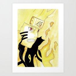 Naruto Watercolor Art Print