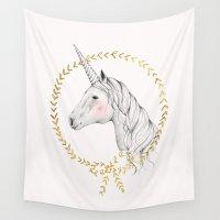 unicorn Wall Tapestries featuring Unicorn by Kelli Murray
