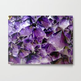 Glowing Amethyst Metal Print