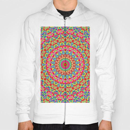 Kaleidoscope Vibrant Trippy Pattern Hoody