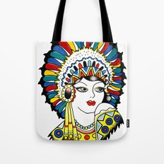 Traditional Tattoo Woman Tote Bag