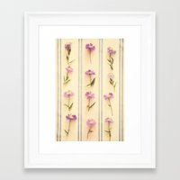 army Framed Art Prints featuring Flower Army by Paula Belle Flores