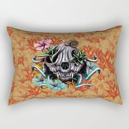 The Skull the Flowers and the Snail CoLoR Rectangular Pillow