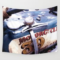 motorcycle Wall Tapestries featuring MOTORCYCLE 39 by D. H. Carter