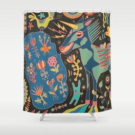 Unicorn Babble Shower Curtain
