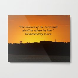 Christian Artwork: The beloved of the Lord shall dwell in safety by Him, God, Love, NZ Metal Print
