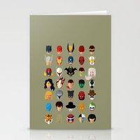 superheroes Stationery Cards featuring SuperHeroes by Luca Giobbe