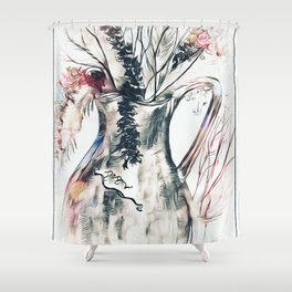 Dried Flower Arrangement Shower Curtain