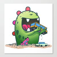 dinosaur Canvas Prints featuring Dinosaur by Artificial primate