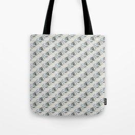 Skull on white wash pattern Tote Bag