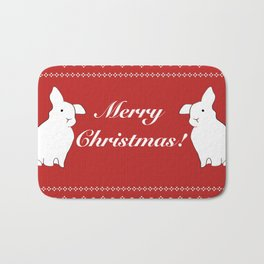 Bunny Christmas Bath Mat