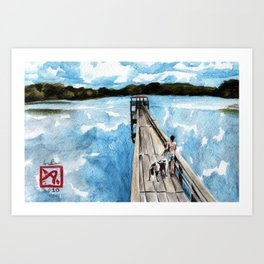 Pier at Glass Lake Art Print