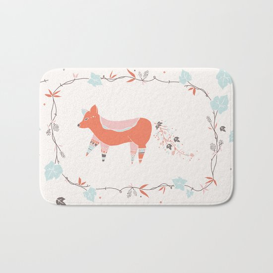 fox & grapes Bath Mat
