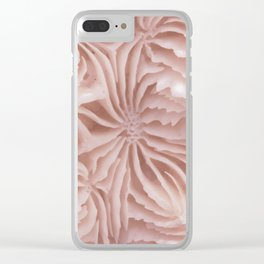 Pink Brain Coral Clear iPhone Case