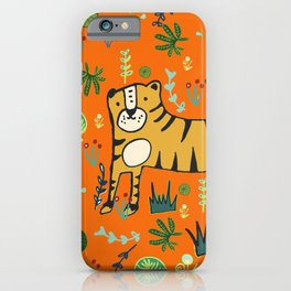 Jungle Tiger Orange iPhone Case