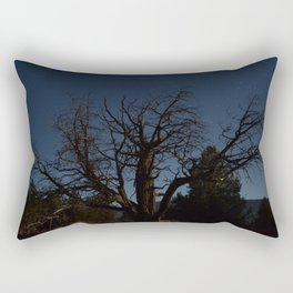 Moon brings life to an old tree Rectangular Pillow