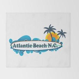 Atlantic Beach - North Carolina. Throw Blanket