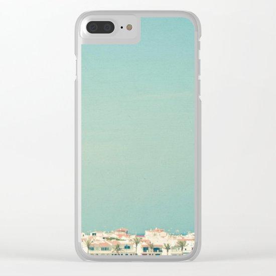Mediterranean Skyline Clear iPhone Case