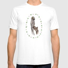The Common Potoo Mens Fitted Tee White SMALL
