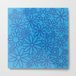 flores azules Metal Print