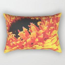 Yellow Germini Close up 3 Rectangular Pillow