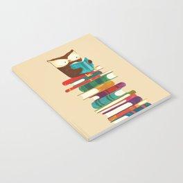 Owl Reading Rainbow Notebook