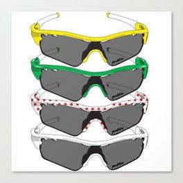 Tour de France Glasses Canvas Print