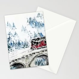 Winter Travel Stationery Cards