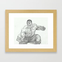 Hulk Smash. Framed Art Print