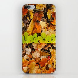 Love in the Fall Leaves iPhone Skin