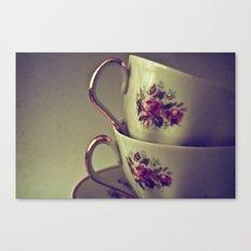 Granny's Tea Cups Canvas Print