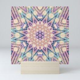 Metallic Pink Doily Geometric Star Mini Art Print