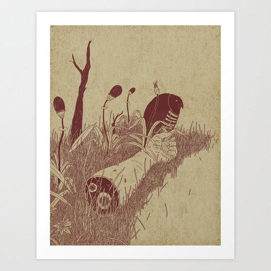 Helvete Forest Art Print