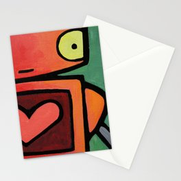 Robot - Heart Skips A Beat Stationery Cards