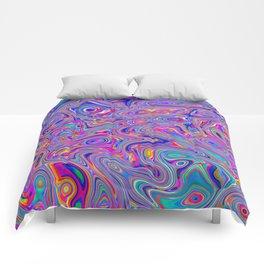 Neon melt Comforters