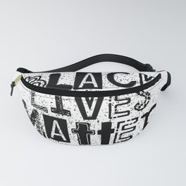 black lives matter mixed media blm protest typeface Fanny Pack