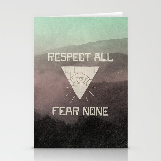 FEAR NONE Stationery Cards