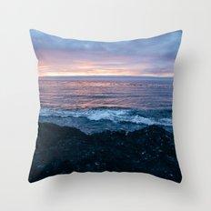 Violet Coast Throw Pillow