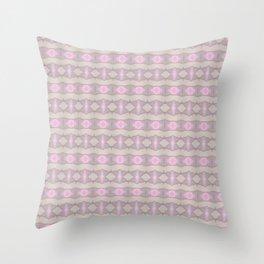 Horizontal geometic stripes - violet Throw Pillow