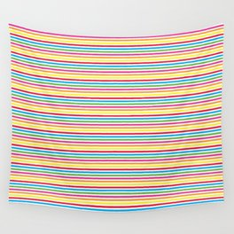 Colourful Pinstripes Wall Tapestry