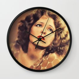 Clara Bow, Vintage Actress Wall Clock
