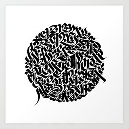 Calligram BIG 2 Art Print
