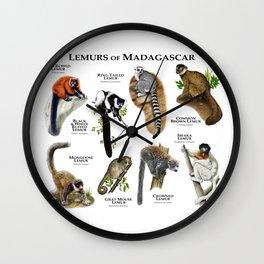 Lemurs of Madagascar Wall Clock