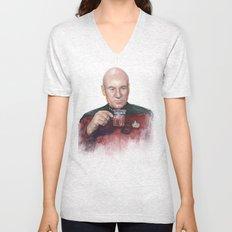 Tea. Earl Grey. Hot. Captain Picard Star Trek | Watercolor Unisex V-Neck